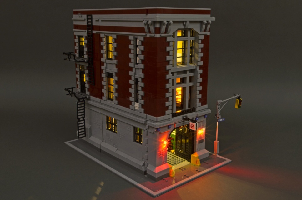 LED Lighting kit for LEGO ® Ghostbusters™ Firehouse Headquarters set 75827
